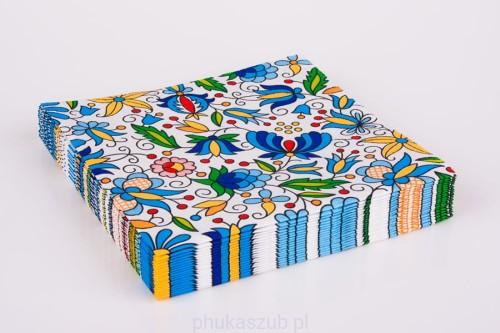 128702ef Kaszubskie folk serwetki stołowe papierowe 20 szt 33 x 33 cm